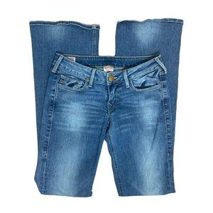 True Religion Light Wash Bootcut Low Rise Jeans